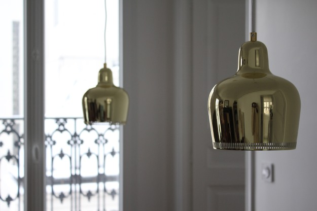 Alvar Aalto bell lamps from 1937 find a new home in Paris