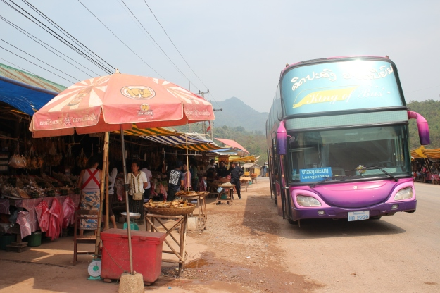 the bus in Laos
