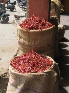 Sun dried chilies
