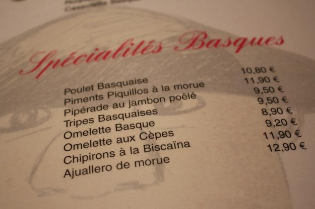 menu chez gladines