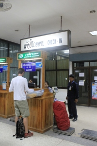 Lao Airlines check-in