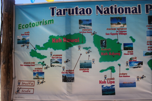 map of Tarutao National Marine Park