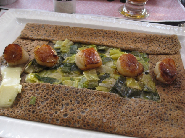 scallop and leek galette