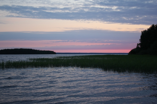 sunset in Finland in July