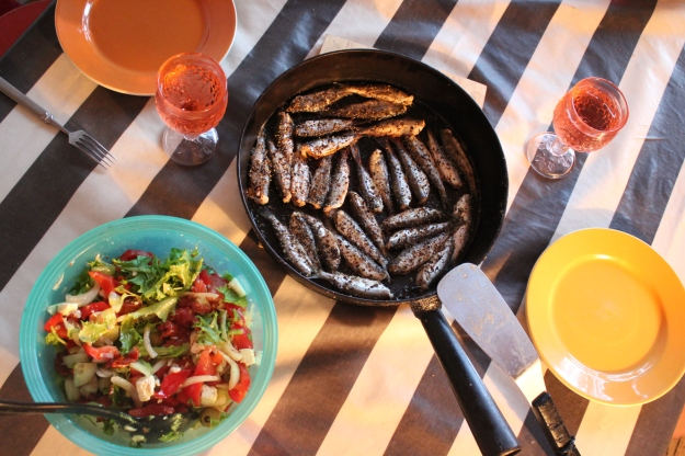 Grilled vendace: a typical Finnish meal