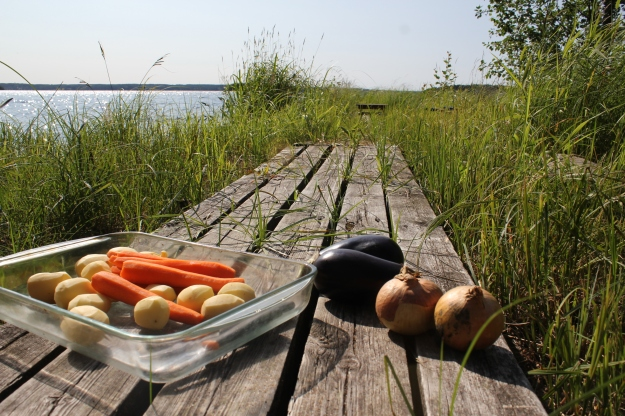 cooking at the summer house in Finland