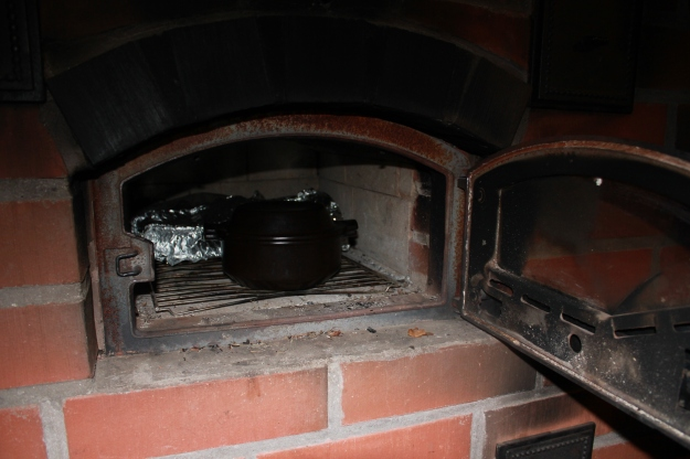 Traditional Finnish oven, leivinuuni