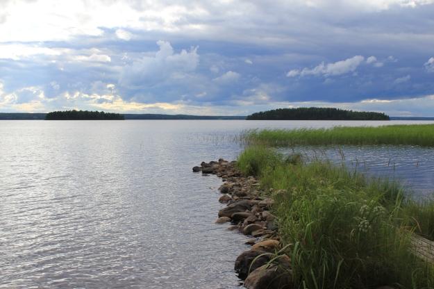 beautiful view of a Finnish lake