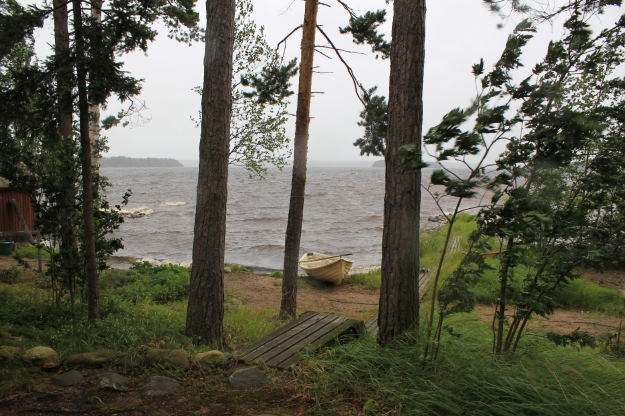 storm at a Finnish lake
