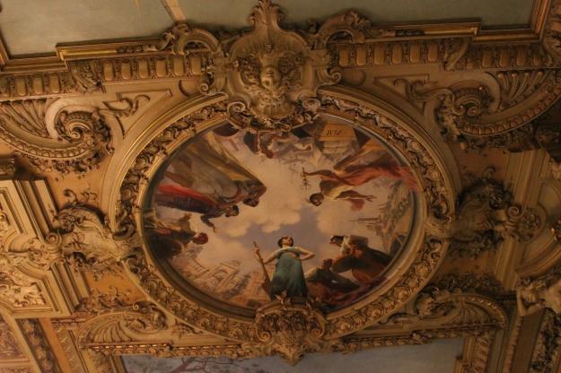 ceiling at Le Train Bleu