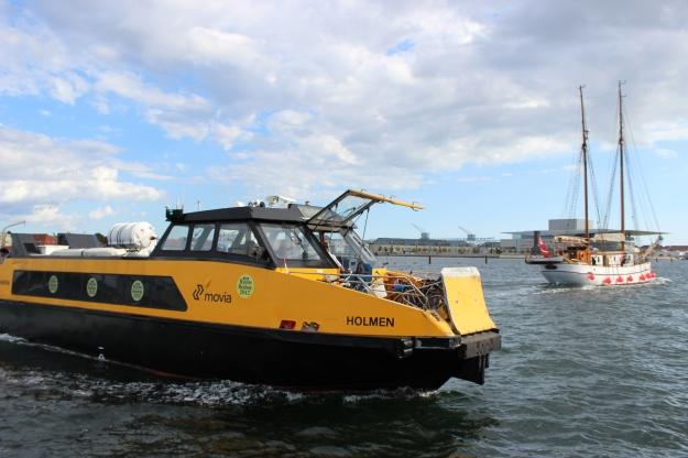 boat cruising in Copenhagen