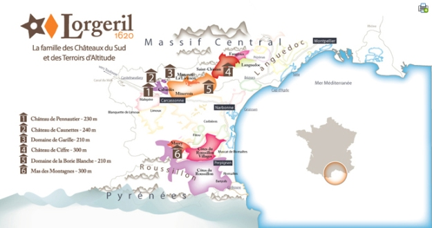 Lorgeril carte vignoble