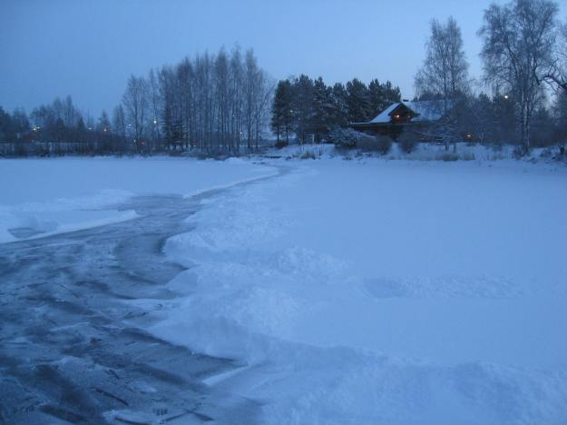 frozen lake in Finland