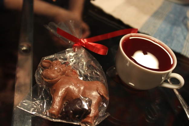 Christmas chocolate and vin chaud