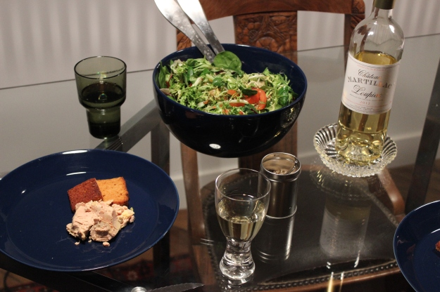 foie gras and wine
