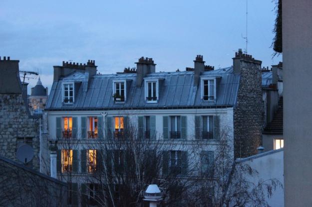 Paris at sun set
