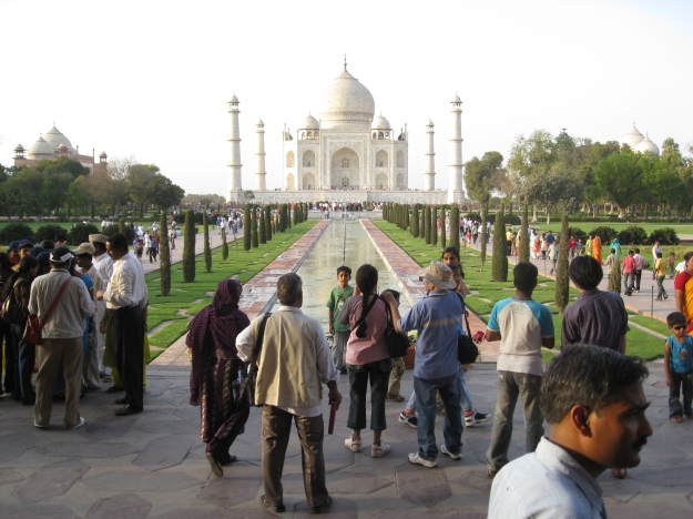 entering Taj Mahal