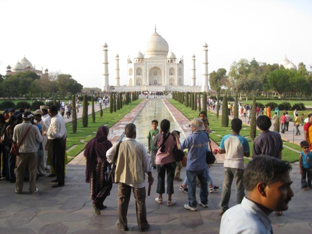entering Taj Mahal