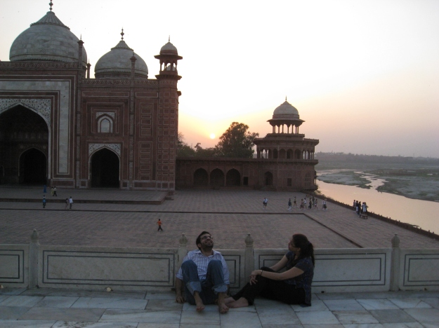 Sunset in Agra