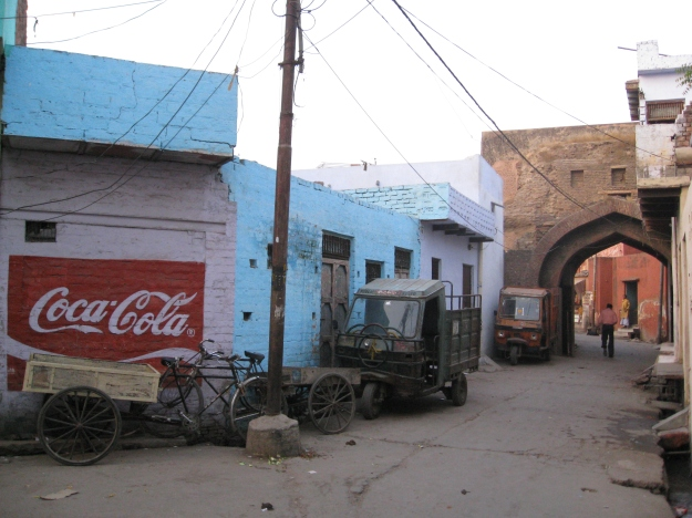 walking around Agra