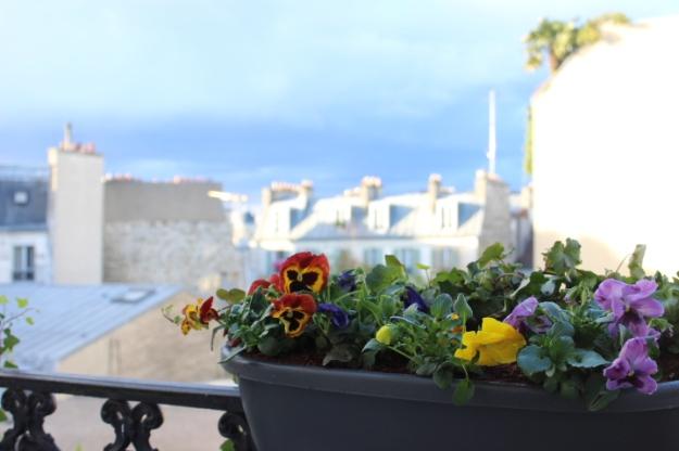 Parisian balcony in spring