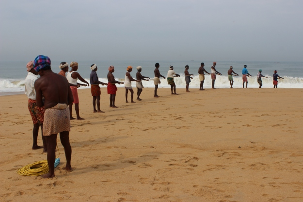 Fishermen in Chowara, Kerala
