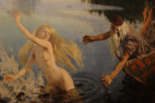 The Aino triptych by Akseli Gallen-Kallela