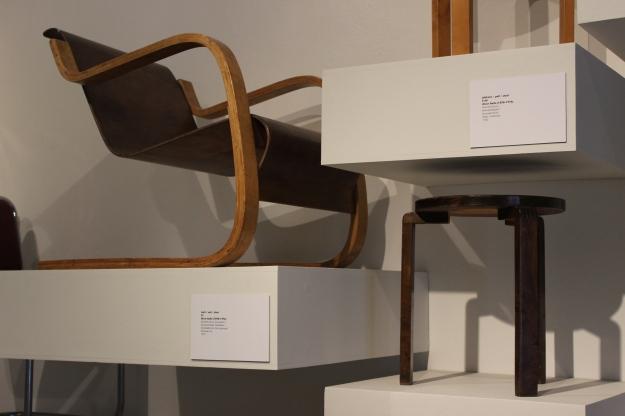 Alvar Aalto chairs at Design Museum