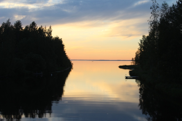 Finnish lake sunset