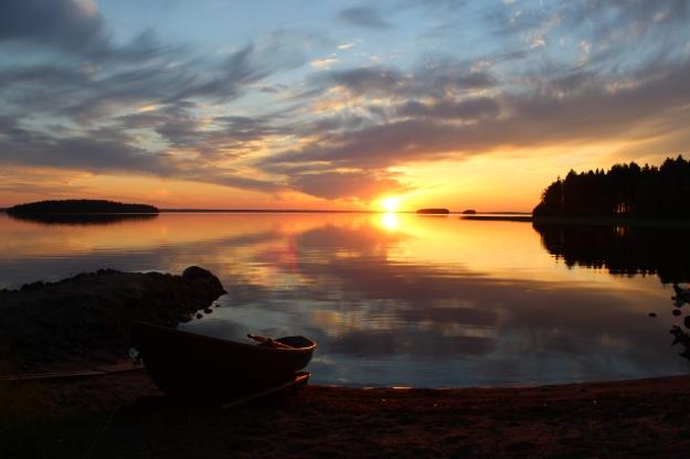 Finnish lake sunset