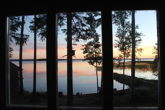 At the summer house I go to sleep watching this view.