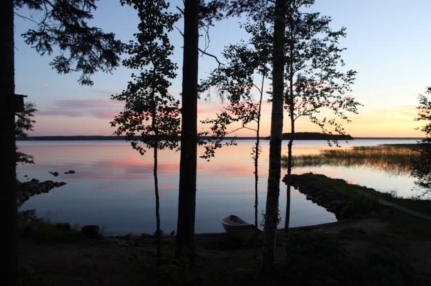 Finland at midnight