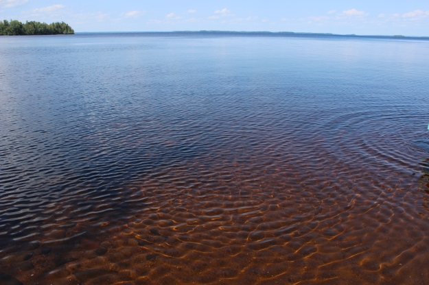 A big lake just for you. Not many people around.