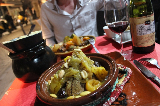 Is there anything better than the arrival of boiling hot tajine on the table?