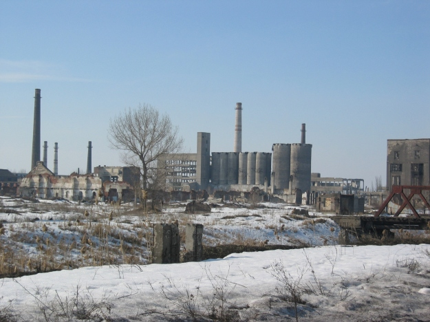 A ghost factory somewhere between Donetsk and Luhansk.