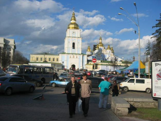Kiev, the birthplace of Russia, is full of old Orthodox churches. Many of them are as old as Kyivan Rus.