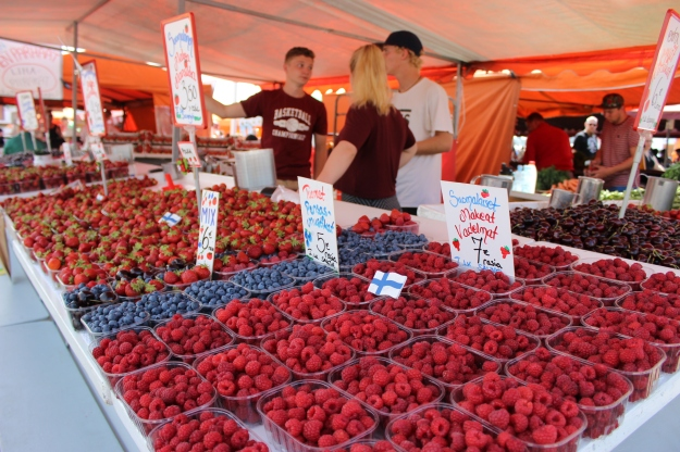 Finns are crazy about strawberries in summer and I was not an exception.