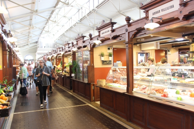 The Old Market Hall has some of the best choices of food in Helsinki, from oysters to snails.
