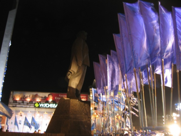 Every other night I would go for a walk from my hotel and see demonstrations. Always supported by Lenin.