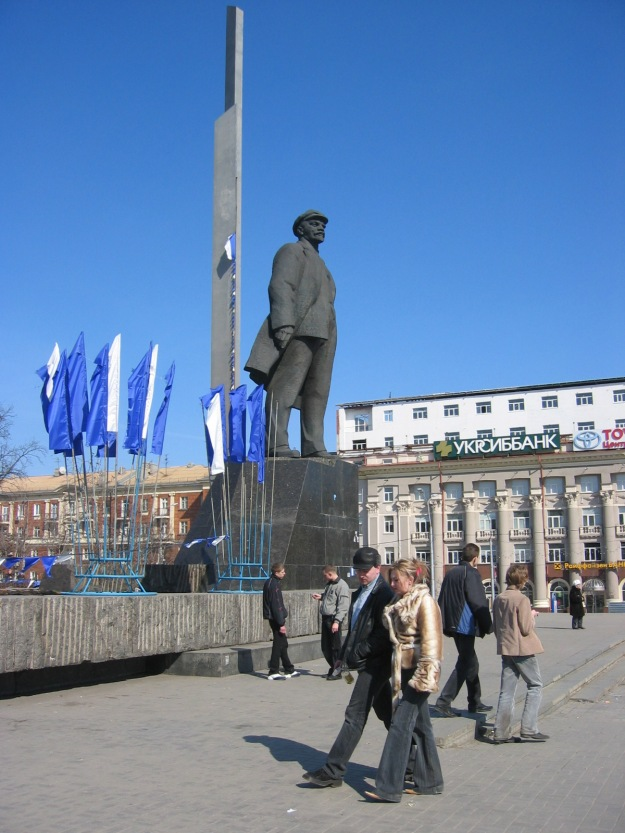 The main square of Donetsk has a big Lenin statue. What would he think of the current developments?
