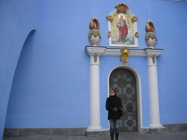 They do love blue color! One would almost think it has some symbolic value for the Orthodox church!