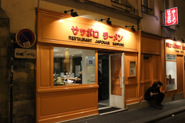 Sapporo, located in Rue St Anne near Opera, is open until ii p.m. on Sundays. Handy!